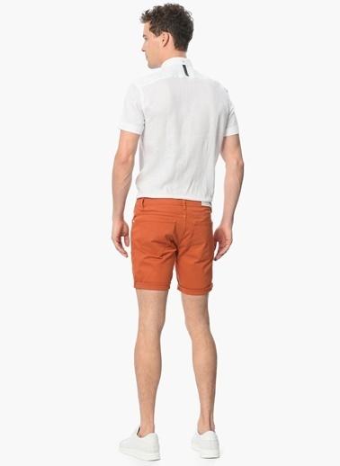 Que Slim Fit Kısa Kollu Gömlek Beyaz
